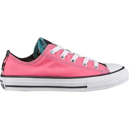 Converse Girls' Chuck Taylor All Star Double Tongue Low-Top Shoes