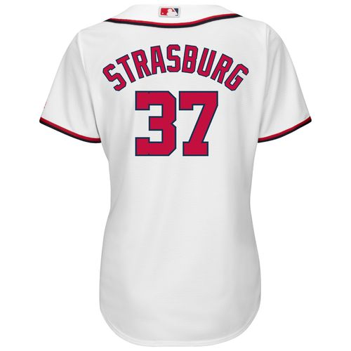Majestic Women's Washington Nationals Stephen Strasburg #37 Cool Base Replica Home Jersey