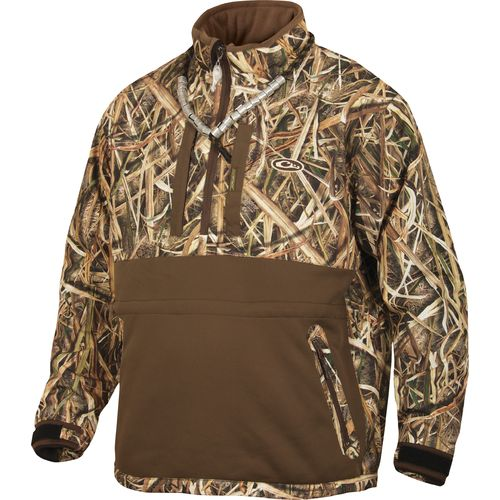 Drake Waterfowl Men's LST Heavyweight Eqwader 1/4 Zip Camo Pullover