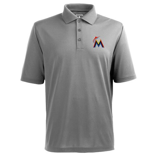 Antigua Men's Miami Marlins Piqué Xtra-Lite Polo Shirt - view number 1
