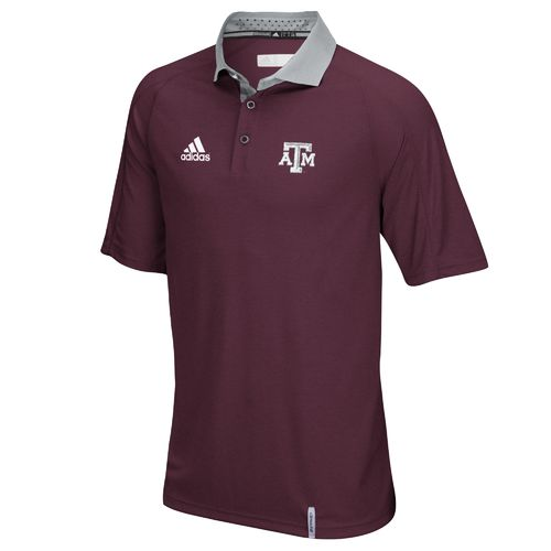 adidas™ Men's Texas A&M University climachill™ Sideline Polo Shirt