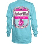 Three Squared Juniors' University of Southern Mississippi Paisley Frame T-shirt