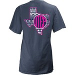 Three Squared Juniors' University of Texas at El Paso Moonface Vee T-shirt