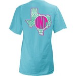 Three Squared Juniors' University of North Texas Moonface Vee T-shirt