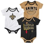 NFL Infants' New Orleans Saints 3 Points 3-Piece Bodysuit Set