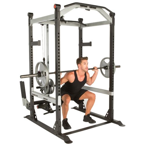 Ironman Triathlon X-Class High-Capacity Light Commercial Olympic Power Cage with Lat Pull-Down and L