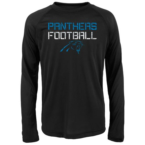 NFL Boys' Carolina Panthers Dri-Tek Concrete Long Sleeve