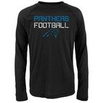 NFL Boys' Carolina Panthers Dri-Tek Concrete Long Sleeve T-shirt