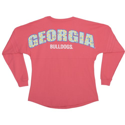 Boxercraft Women's University of Georgia Coral Pom Pom Jersey