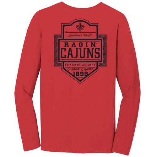 Image One Men's University of Louisiana at Lafayette Finest Shield Comfort Color Long Sleeve T-s