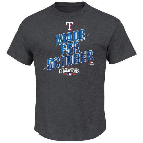 Majestic Men's Texas Rangers 2016 American League West Champions T-shirt