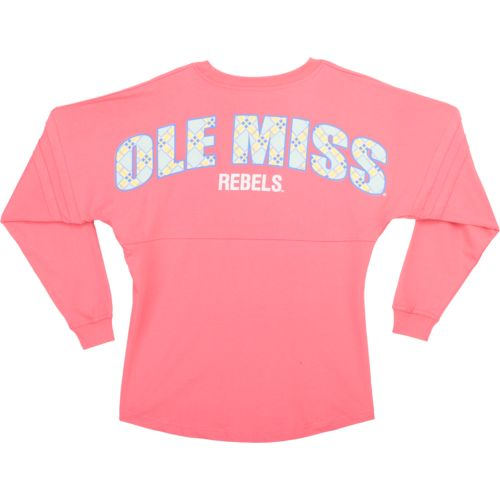 Boxercraft Women's University of Mississippi Coral Pom Pom Jersey