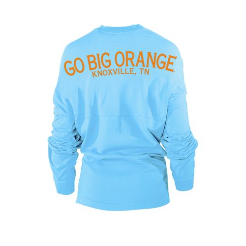 Venley Women's University of Tennessee Jade Long Sleeve Football Jersey