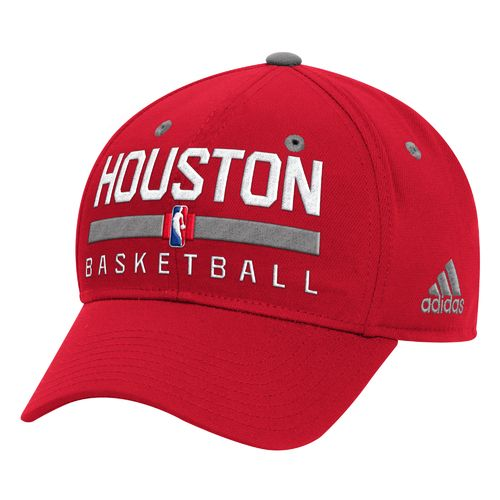 adidas™ Men's Houston Rockets Practice Structured Flex Cap