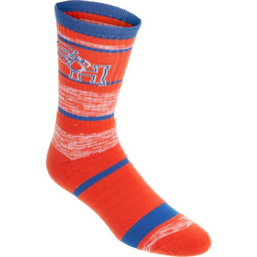 FBF Originals Men's Sam Houston State University Stripe Athletic Crew Socks