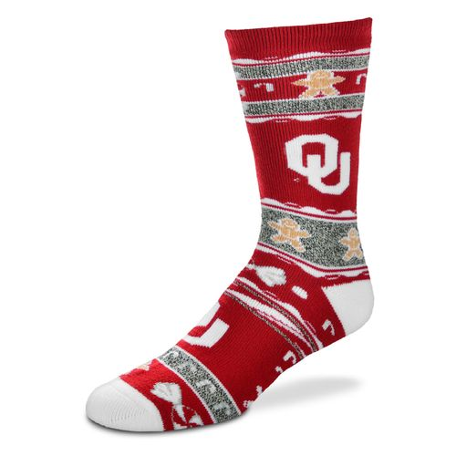 FBF Originals Adults' University of Oklahoma Christmas Sweater Socks
