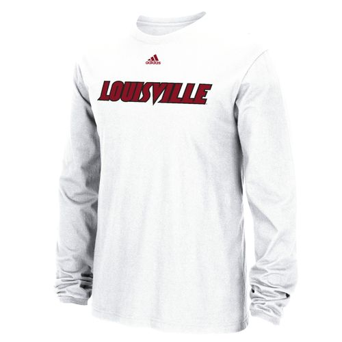 adidas™ Men's University of Louisville Team Font Long Sleeve T-shirt