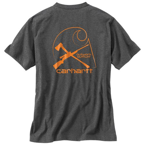 Carhartt Men's Maddock Graphic Outdoors Brand C Pocket Short Sleeve T-shirt