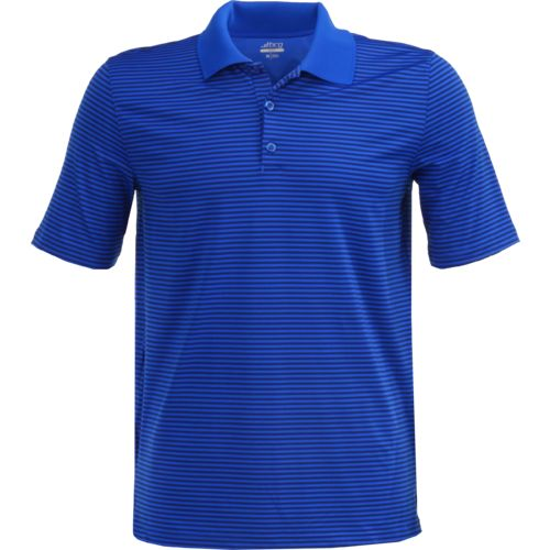 BCG Men's Golf Mini Stripe Tru-Wick Short Sleeve Polo Shirt