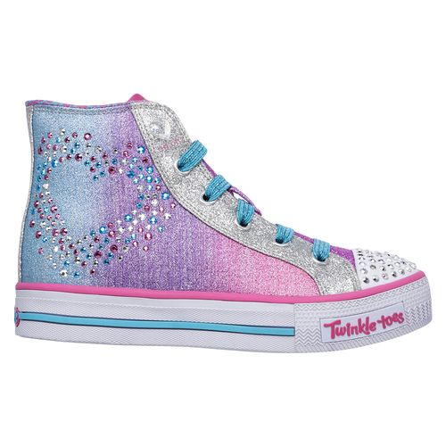 SKECHERS Girls' Twinkle Toes Shuffles Glitzy Hearts Shoes