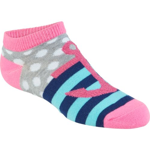 BCG Girls' Crabs No-Show Socks 6 Pairs