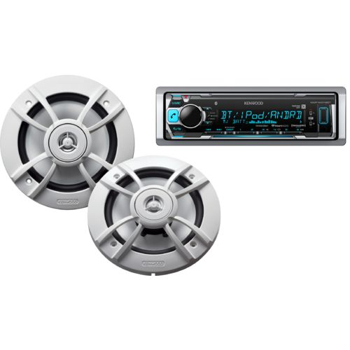 Kenwood Marine Motorsports 200W Digital Media Receiver with Two 6-1/2' Speakers
