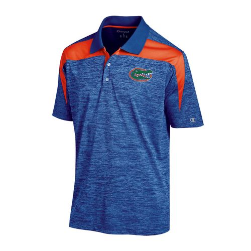 Champion™ Men's University of Florida Synthetic Colorblock Polo Shirt