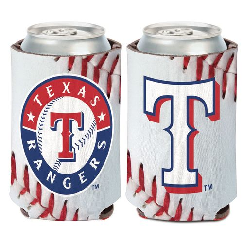 WinCraft Texas Rangers Ball Design 12 oz Can Cooler