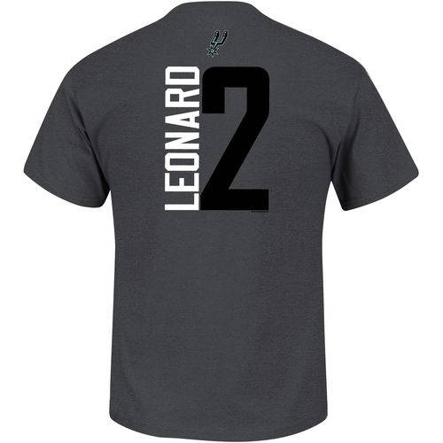 Majestic Boys' San Antonio Spurs Kawhi Leonard 2 Vertical Name and Number T-shirt