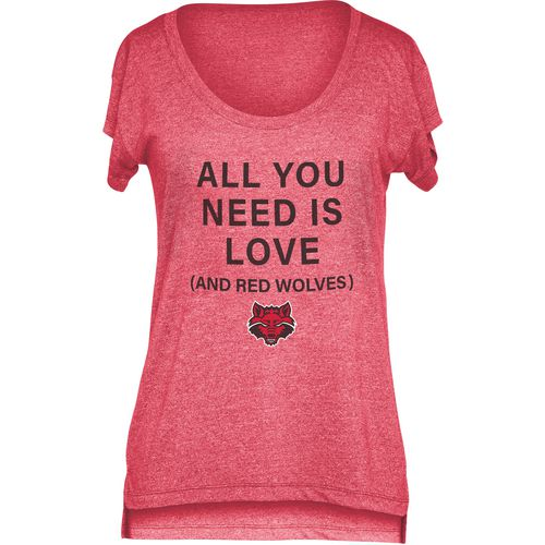 Chicka-d Women's Arkansas State University Scoop-Neck T-shirt