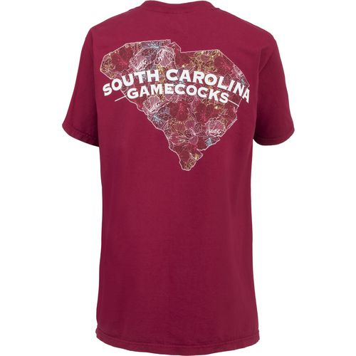 New World Graphics Women's University of South Carolina Comfort Color Puff Arch T-shirt