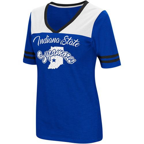Colosseum Athletics Women's Indiana State University Twist 2.1 V-Neck T-shirt - view number 1