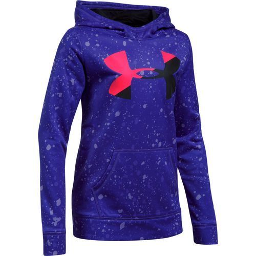 Under Armour Girls' Novelty Armour Fleece Big Logo Hoodie