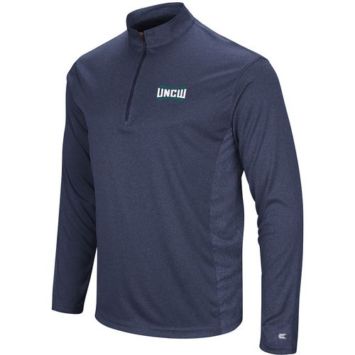 Colosseum Athletics Men's University of North Carolina at Wilmington Audible 1/4 Zip Windshirt