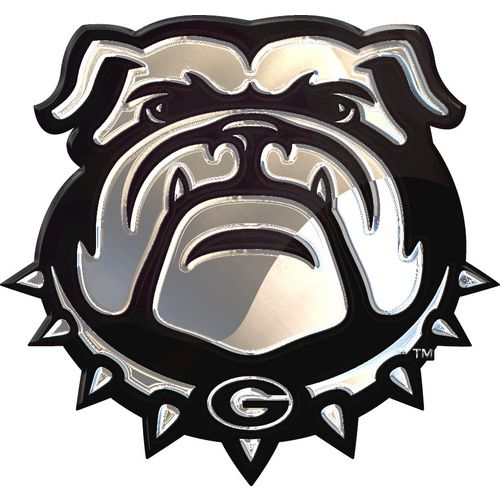Stockdale University of Georgia Chrome Logo Auto Emblem