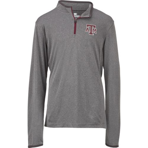 Colosseum Athletics Youth Texas A&M University Action Pass 1/4 Zip Wind Shirt