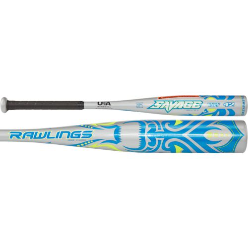 Display product reviews for Rawlings Kids' Savage 2018 Aluminum Alloy T-Ball Bat -12