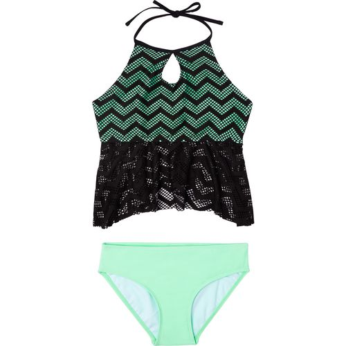 O'Rageous Girls' Endless Crochet 2-Piece Tankini