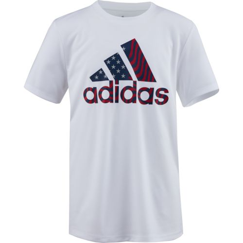 adidas Boys' climalite USA Short Sleeve T-shirt