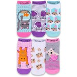 Academy Sports + Outdoors Girls' No Show Fashion Socks 6 Pack - view number 1