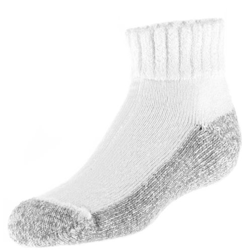 Diabetic Care Adults' White Size 9 - 11 Nonbinding Quarter Socks 1-Pack