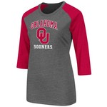 Colosseum Athletics Women's University of Oklahoma Nimbus 3/4 Sleeve T-shirt