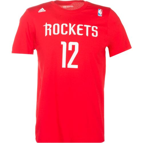 adidas™ Men's Houston Rockets Dwight Howard #12 Game Time Flat Road T-shirt