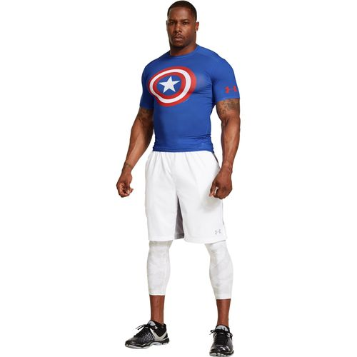 Under Armour Men's Captain America Alter Ego Compression Shirt - view number 3