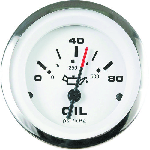 SeaStar Solutions Lido 0 - 80 PSI Oil Pressure Gauge