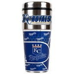 Great American Products Kansas City Royals 16 oz. Travel Tumbler with Metallic Wrap
