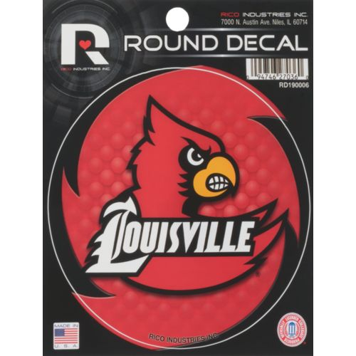 Rico University of Louisville Round Decal