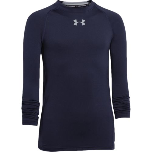 Under Armour Boys' HeatGear Armour Fitted Long Sleeve T-shirt