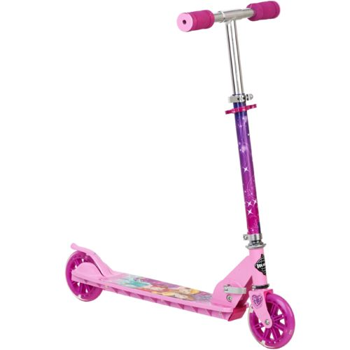 Huffy Girls' Disney Princess Folding In-Line Scooter with Light Up Wheels