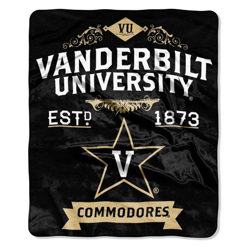 The Northwest Company Vanderbilt University Label Raschel Throw - view number 1